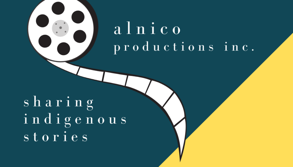 alnico productions logo on teal and yellow background