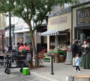 Stratford cameras filming on main street